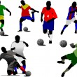 Royalty-Free Stock Vector Image: Set of soccer players. Vector illustrati