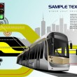 Royalty-Free Stock Vector Image: Abstract hi-tech background with tram im