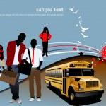 Back to school. Vector illustration — Stock Vector