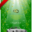 Royalty-Free Stock Vector Image: Wedding green background or cover for fe