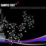 American image background. Vector illust — Stock Vector
