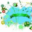 Royalty-Free Stock Vectorielle: Grunge blue-green background. Can be use