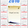 2010 calendar  vector illustration with - Imagen vectorial