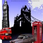 sfondo di immagini di Londra. vettore illustr — Vettoriale Stock