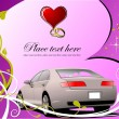 Valentine`s Day  Greeting Card. Vector i - Stok Vektr