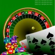 Royalty-Free Stock Vector Image: Casino elements with sport car image. Ve