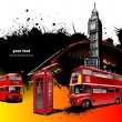 London rarity red images. Vector illustr — 图库矢量图片