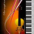Royalty-Free Stock Vector Image: Piano with violin. Vector colored illust