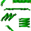 Royalty-Free Stock Векторное изображение: Six green ribbons. Vector illustration