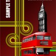 Cover for brochure with London images. V — Cтоковый вектор #1115944
