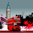 Cover for brochure with London images - Stock Vector