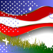 Background with American flag image — 图库矢量图片