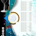 Restaurant (cafe) menu. Vector illustrat — Stock Vector