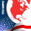 Cover for brochure with USA image and Am - Stock Vector