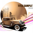 Grunge abstract background with old car — Stock Vector #1116462