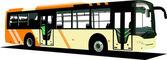 Yellow city bus. Coach. Vector illustrat — Stock Vector