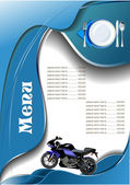 Fish Restaurant (cafe) menu — Vector de stock