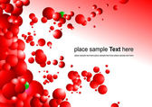 Red futuristic abstract background — Stock Vector