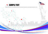 American image background. Vector illust — Stock Vector