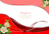 Greeting Wedding card with rose — Stock Vector