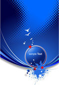 Blue abstract background with stars imag — Cтоковый вектор