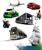 All kinds of transport. Vector illustrat — Stock Vector