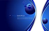 Blue business background. Vector illustr — Stock Vector