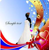 Wedding or Valentine`s Day Greeting Car — Vetorial Stock