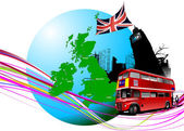 England images. Vector illustration — Stock Vector