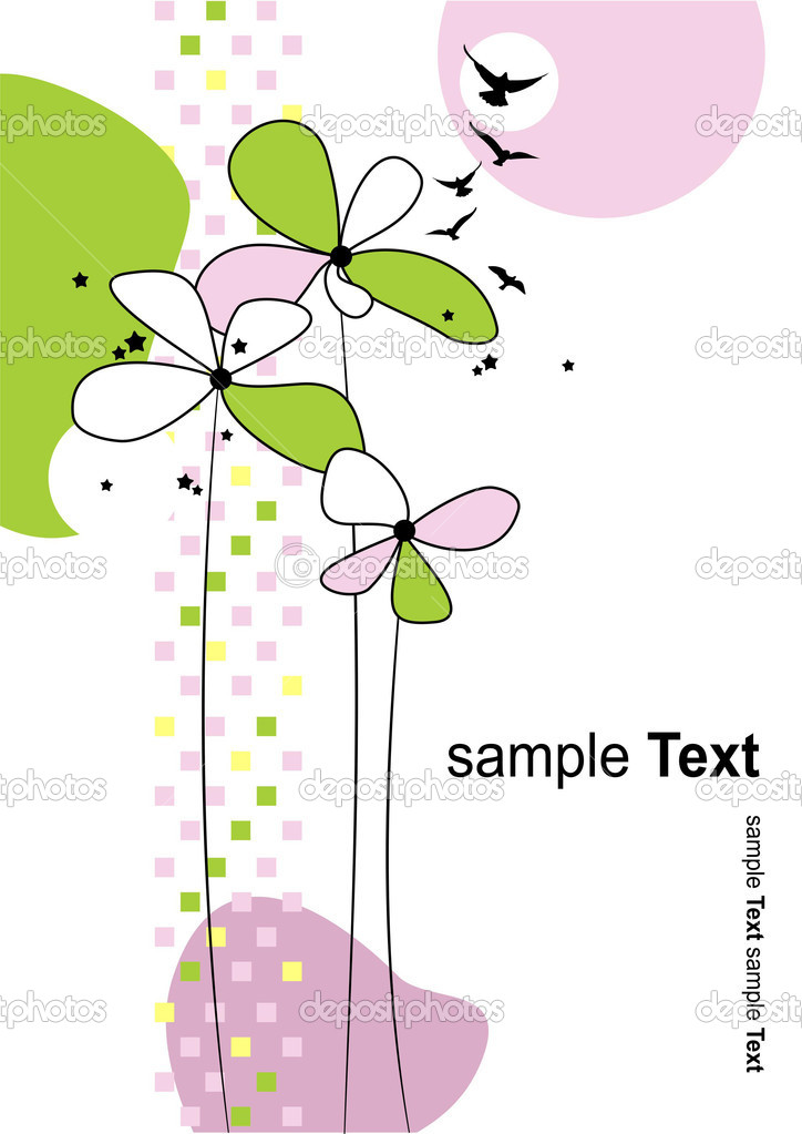 Floral summer background. Vector illustration — Stock Vector #1112916