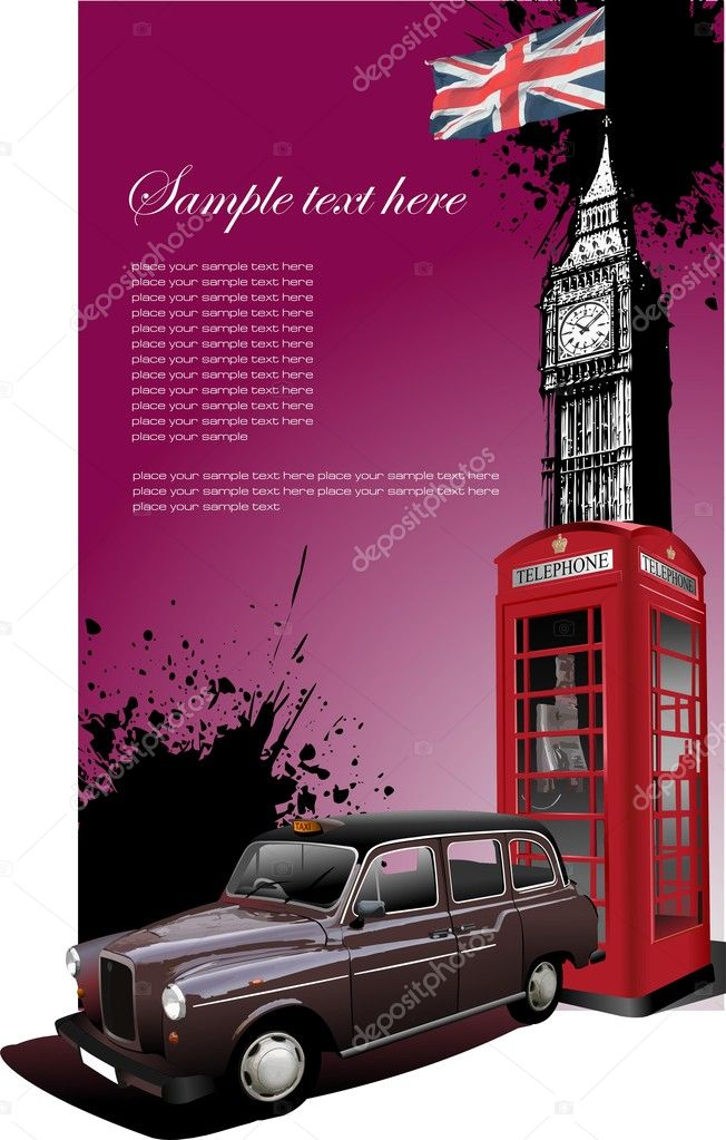 London images background. Vector illustration — Imagens vectoriais em stock #1114244