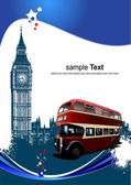 Pokrycie broszura z londynu obrazów. v — Wektor stockowy