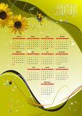 Kalender för 2010. vektor illustration — Stockvektor