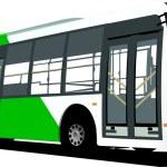 City blue bus — Stock Vector #2005458