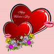Valentine`s Day  Greeting Card — Imagen vectorial