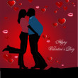 Cover for Valentine`s Day - Stock Vector