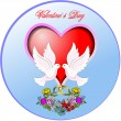 Royalty-Free Stock Vector Image: Circle Valentine`s Day