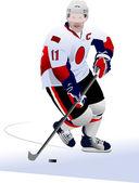 冰上曲棍球球员 — 图库矢量图片