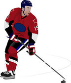 Jogador de hóquei no gelo — Vetor de Stock