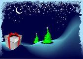 Tarjeta de felicitación para navidad — Vector de stock
