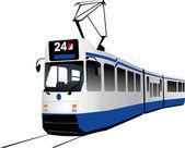 City transport. Tram — Stock Vector