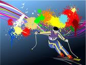 Grunge gekleurde achtergrond — Stockvector