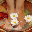 Stock Photo: Massage of feet