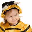 Stock Photo: Little girl in dress of bee