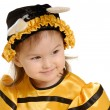 The little girl in dress of a bee — Stock Photo #1639837