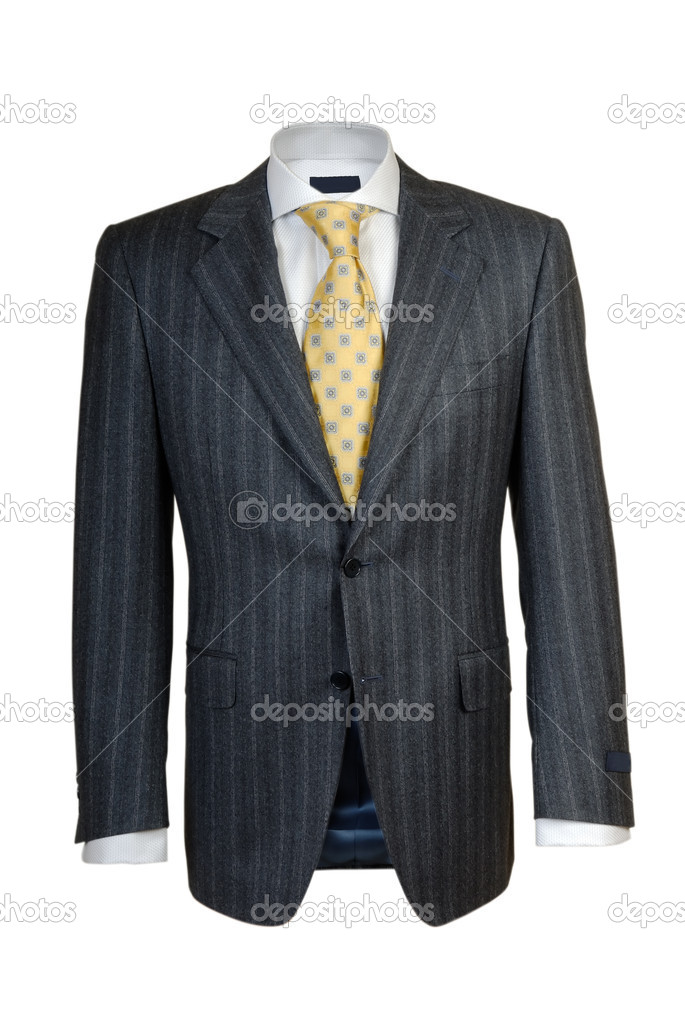 Mens suit on a white background — Stock Photo #1638485