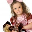 Stock Photo: Little girl with doll