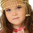 Stock Photo: Little girl in dress of prince
