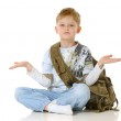 The boy with a bag — Stock Photo