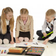 Children engaged in drawing — Stock Photo #1855331